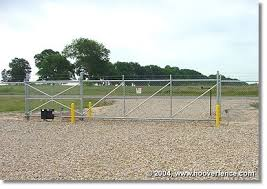 Automatic Entrance Gate Cantilever Chain Link Fence Installation Chain Link Fence Entrance Gates