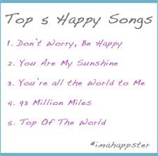 top happy songs the happsters