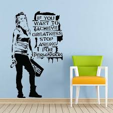 Banksy If You Want To Achieve Greatness Vinyl Wall Art Decal