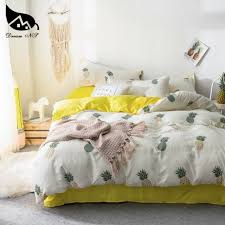 yellow king bedding set for pineapple