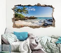 3d Broken Wall Decal Art Aj Wallpaper