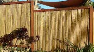 Backyard X Scapes 8 Ft X 6 Ft Natural Wood No Dig Privacy Bamboo Fencing Rolled Fencing In The Garden Fencing Department At Lowes Com