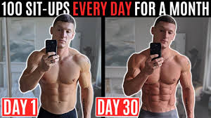 doing 100 situps every day for a month