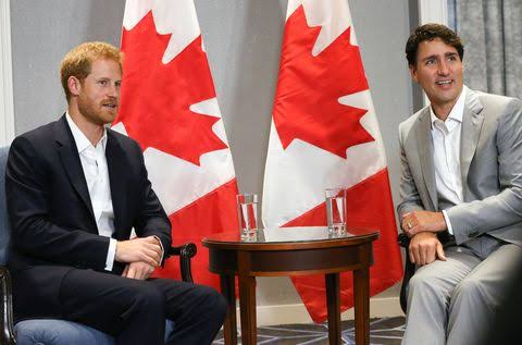 Image result for Prime Minister Justin Trudeau, Meghan and harry""