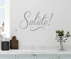 Amazon Com 22 X12 Salute Greet Respect Kitchen Family Welcome Friends Wall Decal Sticker Art Mural Home Decor Home Kitchen