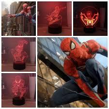 Marvel Spider Man Creative 3d Table Lamp Rgb Colorful Led Night Light Cartoon Child Room Bedside Lamp Atmosphere Light Kids Gift Led Night Lights Aliexpress