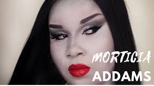 morticia addams makeup transformation