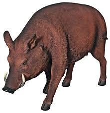 razorback wild boar statue rustic