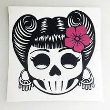 9 Rockabilly Sugar Skulls Ideas Skull Decal Sugar Skull Rockabilly
