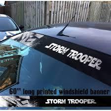 Buy 60 Boba Fett Star Wars V4 Clone Stormtrooper Mandalorian Dark Force Sun Strip Printed Windshield Car Vinyl Sticker Decal
