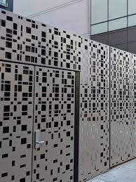 Fence Uber Hq In Sf Metal Gates Design Metal Facade Steel Fence Panels
