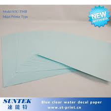 A4 Size 50 Sheets Blue Based Paper Clear Film Inkjet Water Slide Decal Papel Transfert Printing Paper For White Ink Printer 50 Sheets Water Slide Decalswater Decals Aliexpress