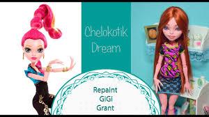 repaint monster high doll gigi grant