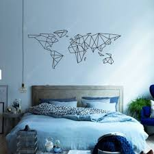 Geometric World Map Vinyl Wall Sticker For Kids Room Murals Decals Home Decor Sale Price Reviews Gearbest