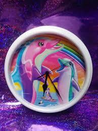 Upcycled Lisa Frank Art Dolphin Wall Clock Etsy