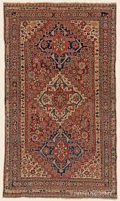 Antique Southwest Persian Qashqai area size tribal rug with three ...
