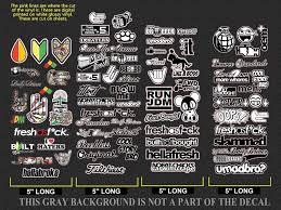 Amazon Com Jdm Bulk Wholesale Sticker Decal Pack Lot Of 78 Vinyl Decal Stickers Bombing Drift Race Low Mtdc