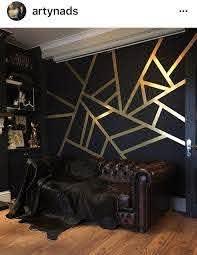 Black And Gold Wall Decor Blackandgoldwall Black And Gold Living Room Gold Living Room Walls Gold Bedroom Decor