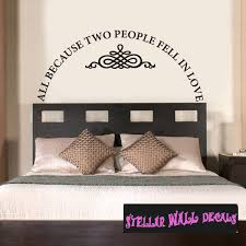 All Because Two People Fell In Love Family And Friends Wall Decals Wall Quotes Wall Murals Lo009allbecausei7 Swd