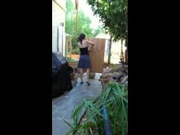DESERT DARK: author Sonja Stone shows off her knife throwing skills. -  YouTube