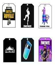 Fortnite Tags Fortnite Party Fortnite Favor Tags Instant Etsy