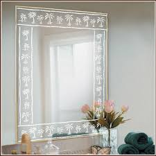 transpa etched mirror glass
