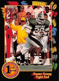 Amazon.com: 1991 Wild Card Draft Football #125 Duane Young ...