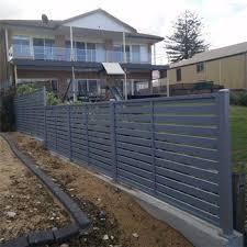 China Slat Privacy Fence Panels Aluminum Powder Coated Concrete Fence Diy Wall Decoration China Aluminum And Slat Price