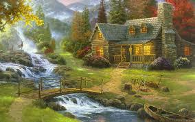 painting landscape pictures wallpaper
