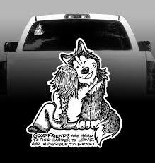 Good Friends Vinyl Decal Car Sticker Siberian Husky Rockin Da Dogs