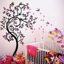 Cherry Blossom Tree Wall Decal Flower Tree Nursery Vinyl Decor Kr040 Studioquee On Artfire