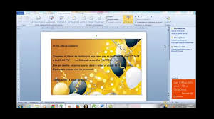 Como Crear Una Invitacion En Word Rapido Y Sencillo