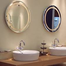 illuminated backlit led round mirror