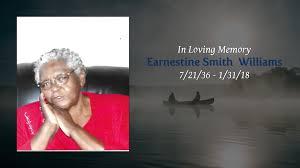 Obituary   Earnestine Smith Williams   Robert Jester Mortuary