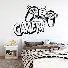 Carved Gamer Vinyl Wall Sticker Game Room For Kids Room Decoration Wall Murals Boys Bedroom Decor Gaming Poster Wallpaper Removable Stickers For Wall Decoration Removable Stickers For Walls From Supper007 2 6 Dhgate Com