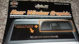 Harley Davidson Rear Window Graphics Decal Cg32000 For Sale Online Ebay