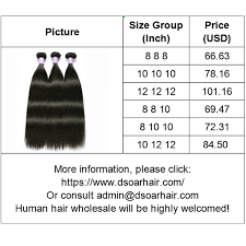 how much is human hair bundles dsoar