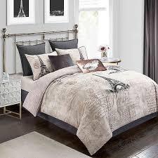 paris rose gold 8 piece comforter set