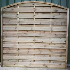 Arched Top Horizontal Fence Panel Crestala Fencing Centre