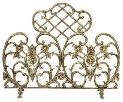 antique gold cast screen victorian