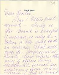 Letter from Ada Young to W. E. B. Du Bois - Digital Commonwealth
