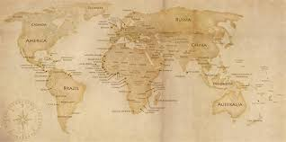 15 old world map vector images