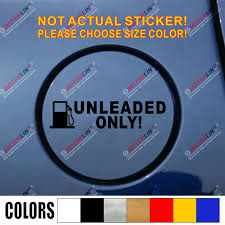 Unleaded Only Fuel Gas Gasoline Cover Cap Tank Car Truck Vinyl Decal Sticker 12cm Long Funny Style Pick Your Color Vinyl Decals Stickers Decal Stickercar Decal Sticker Aliexpress
