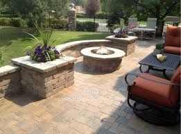 paver patio fire pit in greenwood