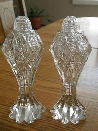 cut glass salt pepper shakers vintage