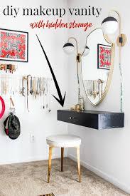 wall mounted diy makeup vanity table