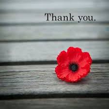 thank you on remembrance day