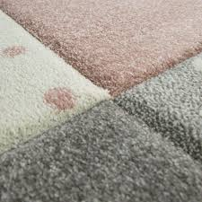 Kids Rug Checkered Patterned With Dots Hearts And Stars In Pastel Colo Sugar Plum Avenue Llc