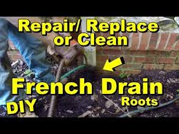 french drain how to clean repair