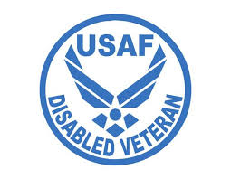 Usaf Disabled Veteran Air Force Vinyl Window Decal Pick Your Etsy